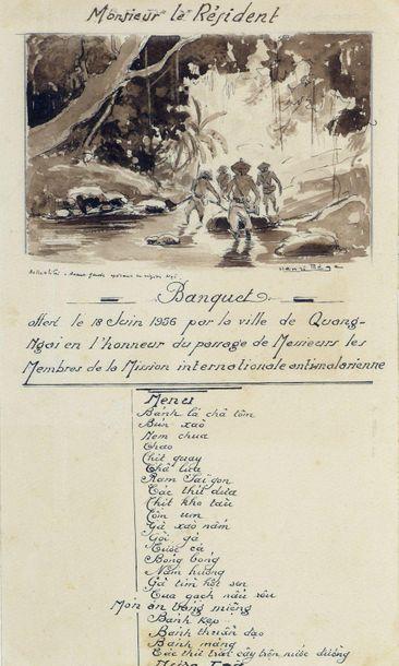 Henri MEGE (1904-1984). Menu de Monsieur...