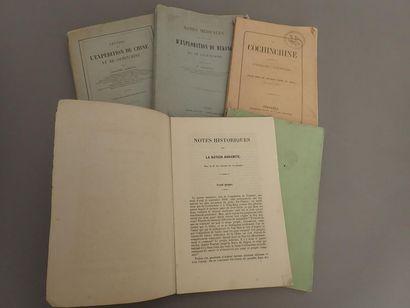 1864  Un ensemble de cinq plaquettes et livres...