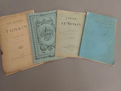 1868  Un ensemble de trois plaquettes dédicacées...