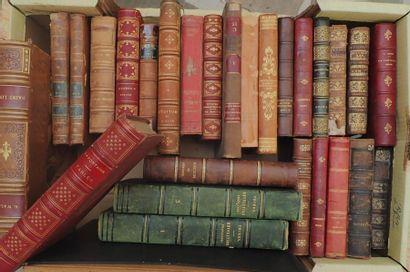 Cartons Livres contenant 32 ouvrages reliés...