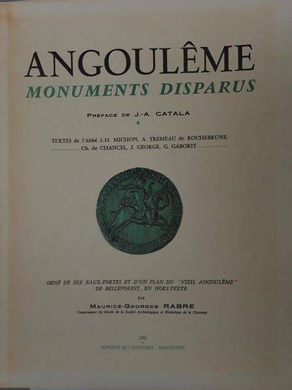 MICHON J.H. (abbé), TREMEAU de ROCHEBRUNE...