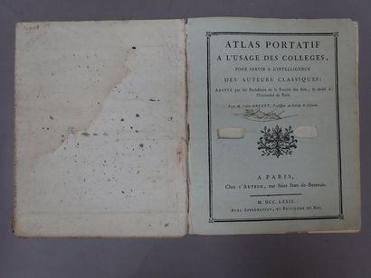 Cartes - GRENET (Abbé). Atlas portatif à...
