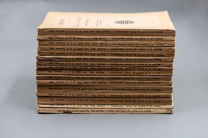 Lot de 16 livraisons du Bulletin de la Société...
