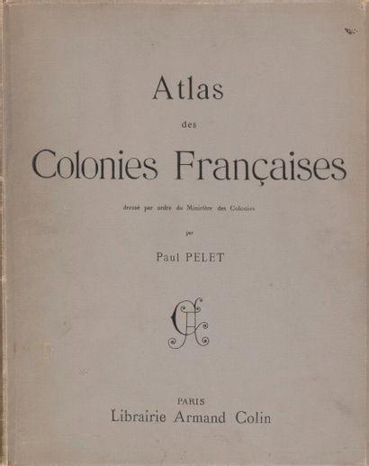 1902.  Paul Pelet.  Atlas des colonies françaises,...
