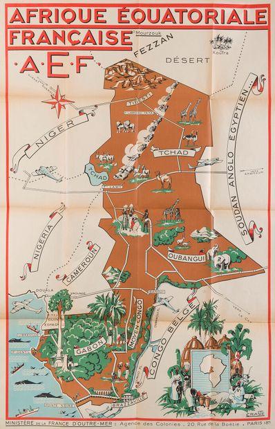 Léo CRASTE (1887-1970)  Afrique Equatoriale...