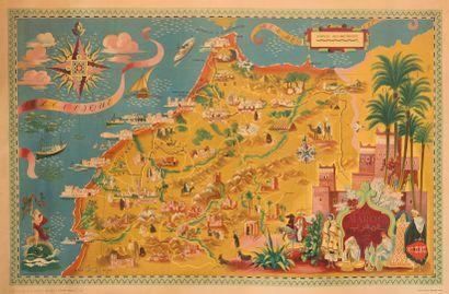 Lucien BOUCHER (1889-1971).  Le Maroc.  Affiche...