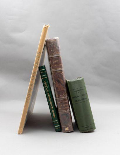 Un ensemble de quatre ouvrages sur l'ethnologie...