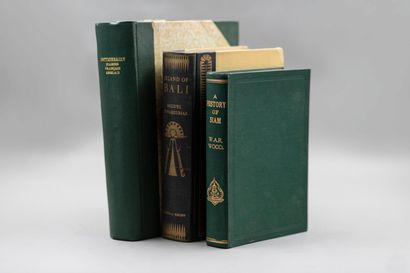 SIAM : lot de 2 ouvrages :  Pallegoix, Dictionnaire...