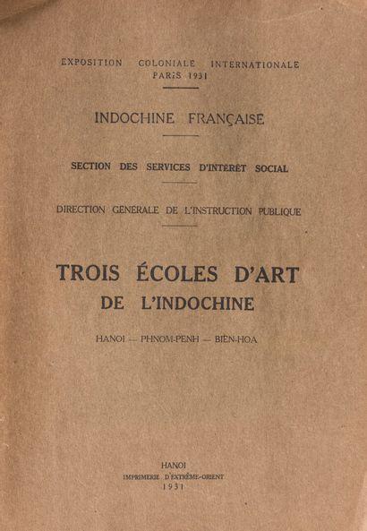 1931  Brochure sur les écoles d'Art en Indochine...
