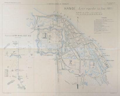 1885. Plan de la ville de Hanoï par l'artillerie...