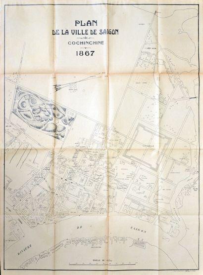 1867.  Plan de la ville de Saïgon. Cochinchine...
