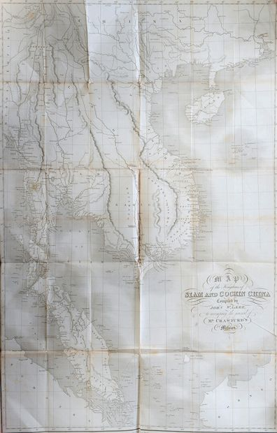 1828.  Map of the kingdoms of Siam and Cochinchina....