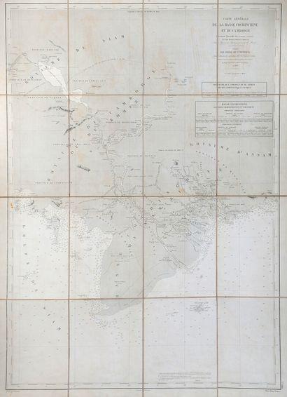 1865.  Carte Générale de la Cochinchine et...