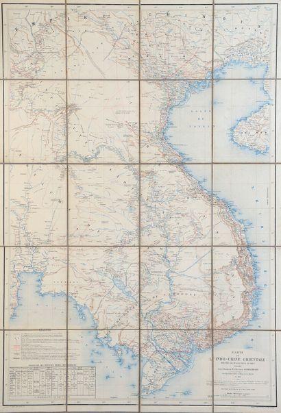 1881.  Carte de l'Indo-Chine orientale.  Dressée...