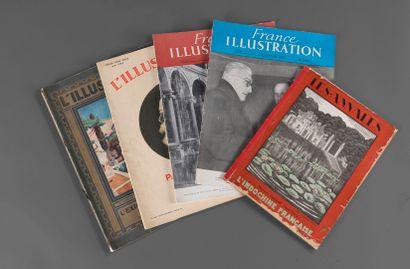 1928.  Un ensemble de 5 revues sur l'actualité...