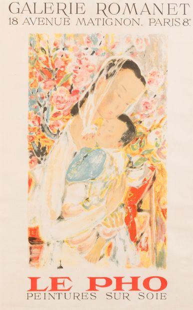 Lê Pho (1907-2001)  AFFICHE LE PHO, PEINTURE...