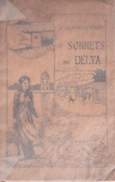 1922  Edmond Blanguernon  Sonnets du Delta  Illustrations de Nam Son.  Hanoï, la...