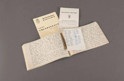 1932.  Edmond Chaix (XXe)  Journal de bord...