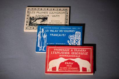 Trois recueils de cartes postales  Triptyque...