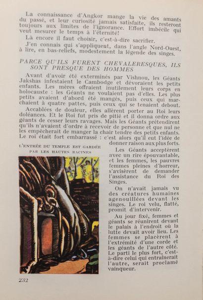 1954  Christiane Fournier et Alix Aymé. En parcourant l'Indochine.  Monaco, Les...