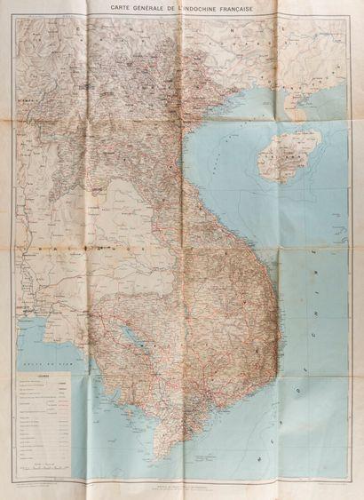 1910. Un ensemble de trois cartes de l'Indochine....