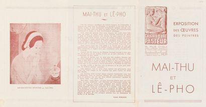 1941  Mai Thu et Lê Pho.  Dépliant d'exposition...