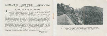 """1924  Deux dépliants publicitaires du palace """" Hôtel de la Cascade d'Argent """" -..."""