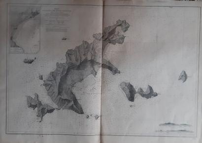 1781-1947  Ensemble de cartes et documents sur le bagne de Poulo Condore  - Belle...