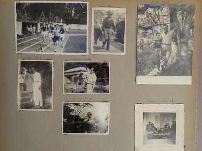1929  Album de voyages de la famille d'un médecin de la Marine  Avec de nombreux...