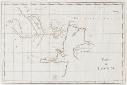 1781. Premières cartes du Tonkin de Jean...
