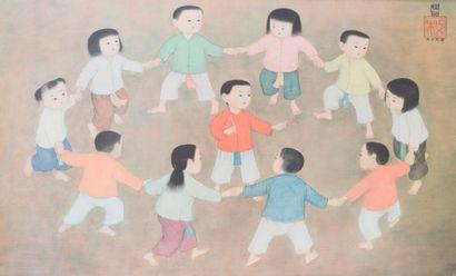 Mai Thu (1906-1980)  La ronde des enfants....