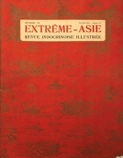 Un ensemble de revues, magazines et monographies sur les arts en Asie et en Indochine....