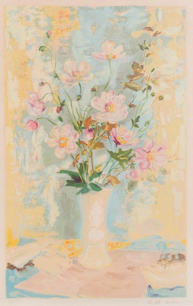 Lê Pho (1907-2001)  Fleur et vase japonais...