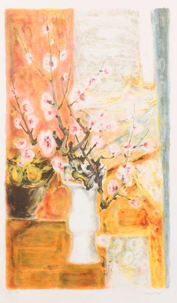 Lê Pho (1907-2001)  Fleurs de cerisier dans...