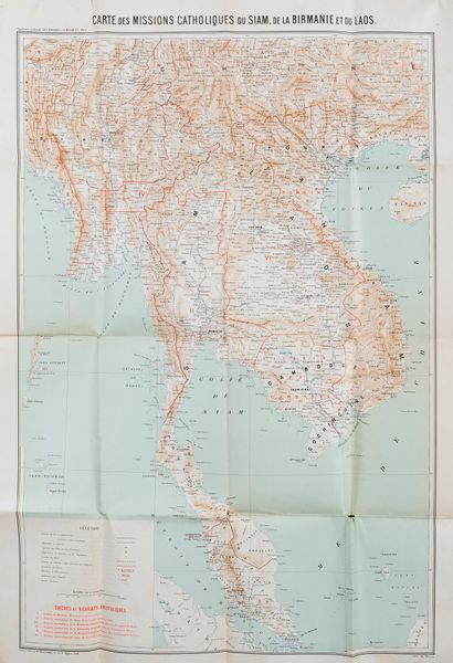 1904. Carte des missions Catholiques, de...