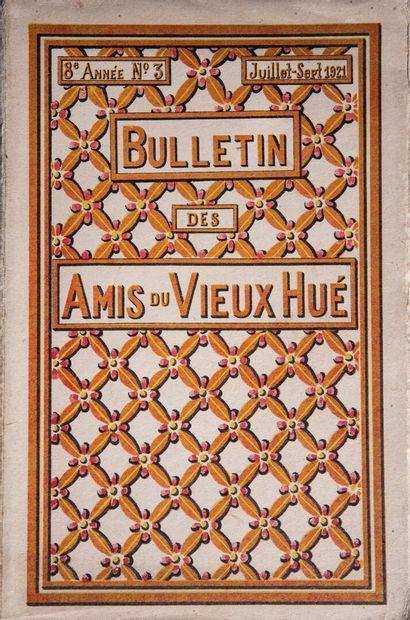 1919  Bulletins des amis du Vieux Hué.  6e année. N°3 - Juillet-Septembre 1919....