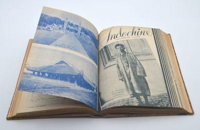 1941  Reliure Indochine, hebdomadaire illustré. Année complète 1941.  Trois reliures...