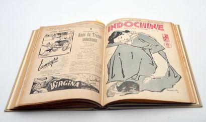 1944-45  Reliure Indochine, hebdomadaire illustré. Année complète 1944-45.  Trois...