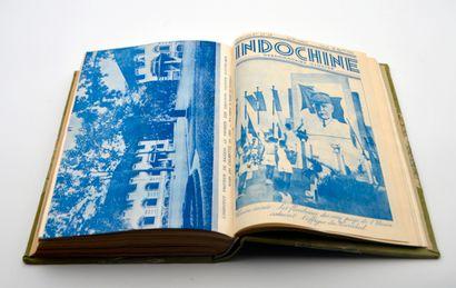 """1940  Collection complète de la revue """" Indochine, hebdomadaire illustré """". Années..."""
