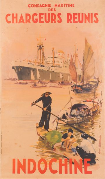 1952  Indochine  Compagnie Maritime des Chargeurs...