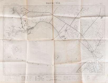 1910. Un ensemble de trois cartes de l'Indochine.  - Carte de l'Indochine Française....