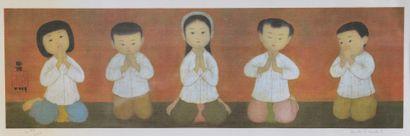 Mai Thu (1906-1980).  La leçon de chant....
