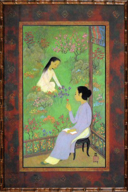Mai Thu (1906-1980). Le printemps.  Reproduction...