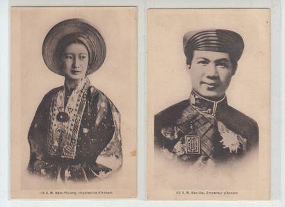 1934  Deux cartes postales de S.M. l'Impératrice...