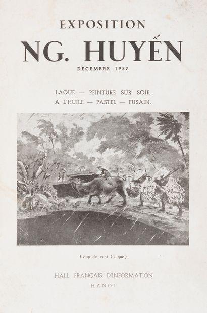 1952  Catalogue d'exposition Nguyen Huyen...