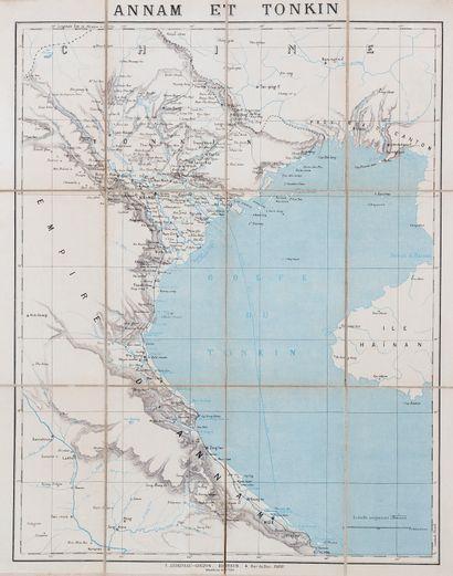 1890. Carte de l'Annam et du Tonkin.  Editée...