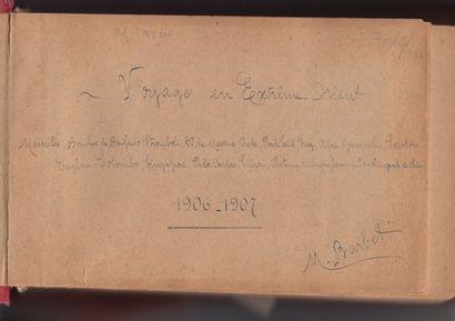 1906  M. Barbet (XIX-XXe)  Voyage en Extrême-Orient - Années 1906-1907.  Album à...
