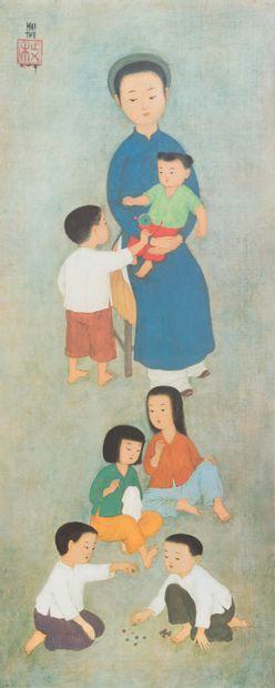 Mai Thu (1906-1980)  La famille.  Impression...