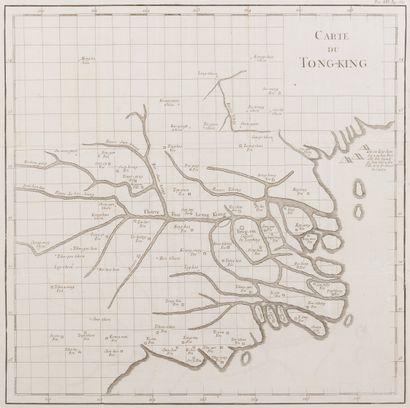 1781. Premières cartes du Tonkin de Jean Dominique Etienne Canu (1781)  - Carte...
