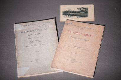 1883.  Deux plaquettes sur Saïgon et la Cochinchine....